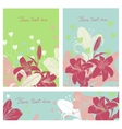 Floral card set with place for your text vector image