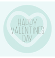 Simple decorative pattern Happy Valentines Day vector image