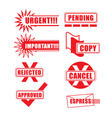 Priority Icons vector image