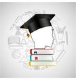 eduation online concept student books school vector image
