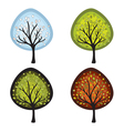 four season trees vector image