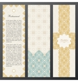 Islam vintage luxury cards set of ornate vector image