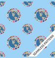 seamless pattern with flags vector image