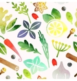 Seamless spices vector image