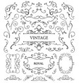 set of vintage swirls frames vector image