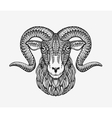 Sheep ram or mountain goat Animal decorated with vector image