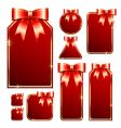 red tags with bow vector image vector image