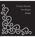Swirl corner element vector image