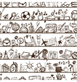 School hand drawn pattern for your design vector image