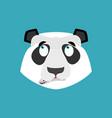 panda surprised emoji chinese bear astonished vector image