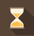 Hourglass icon with long shadow vector image