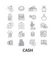 cash money register dollar pile dollar bill vector image