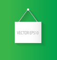 hanging sign green vector image