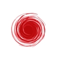 Twisted Spiral Abstract of red in the vector image