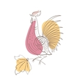 Fantasy Rooster in Russian ornamental style vector image