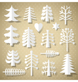 cutting christmas trees vector image