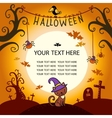 Halloween card with cat vector image