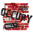 occupy wall street sign on a grungy brick wall vector image