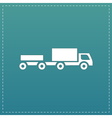truck with trailer vector image