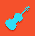 violin sign whitish icon on vector image