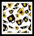 Cups with cards suits from Alice in wonderland vector image