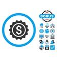 Banking Stamp Flat Icon with Bonus vector image