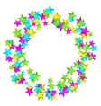 Frame with colourful sparlking confetti Bright vector image