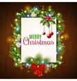Christmas Holiday Frame vector image vector image