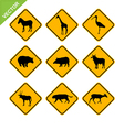 Animal traffic sign vector image vector image