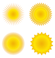 vector suns vector image vector image