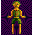 bizarre modernistic avatar cubism theme vector image