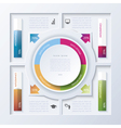 Abstract design infographic vector image