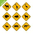 Animal traffic sign vector image
