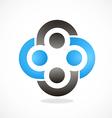 Circle group teamwork abstract logo vector image