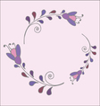 Cute simple floral frame vector image