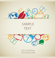 education design template vector image