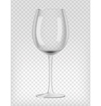 Empty wine glass vector image