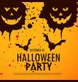 halloween party grunge background vector image
