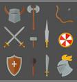 knights symbols medieval weapons heraldic vector image