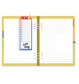 notepad with to do list to note the important vector image