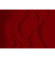 Red Abstract Background with Curves vector image