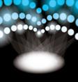 Stadium spotlights vector image