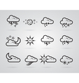 set of different grey weather icons vector image vector image