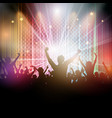 disco crowd background vector image vector image