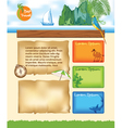 Travel Background for website vector image vector image