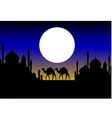 beauty silhouette of camel trip vector image