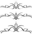 abstract black flora design element vector image