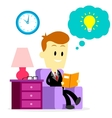 Businessman Reading A Book to Improve Skills vector image