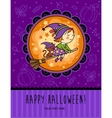 Childish Halloween card in vector image
