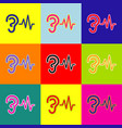 Ear hearing sound sign pop-art style vector image